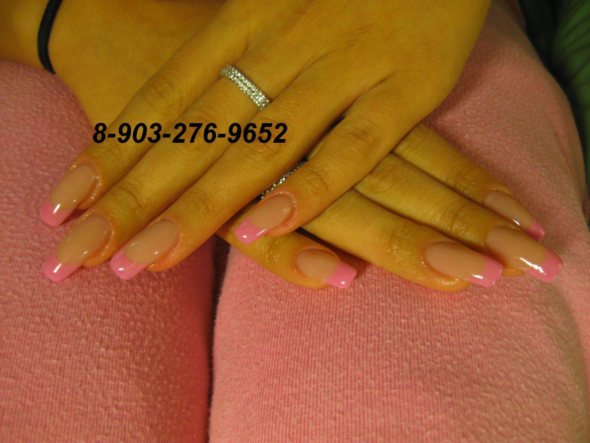 Фото цветного френча на квадратные ногти