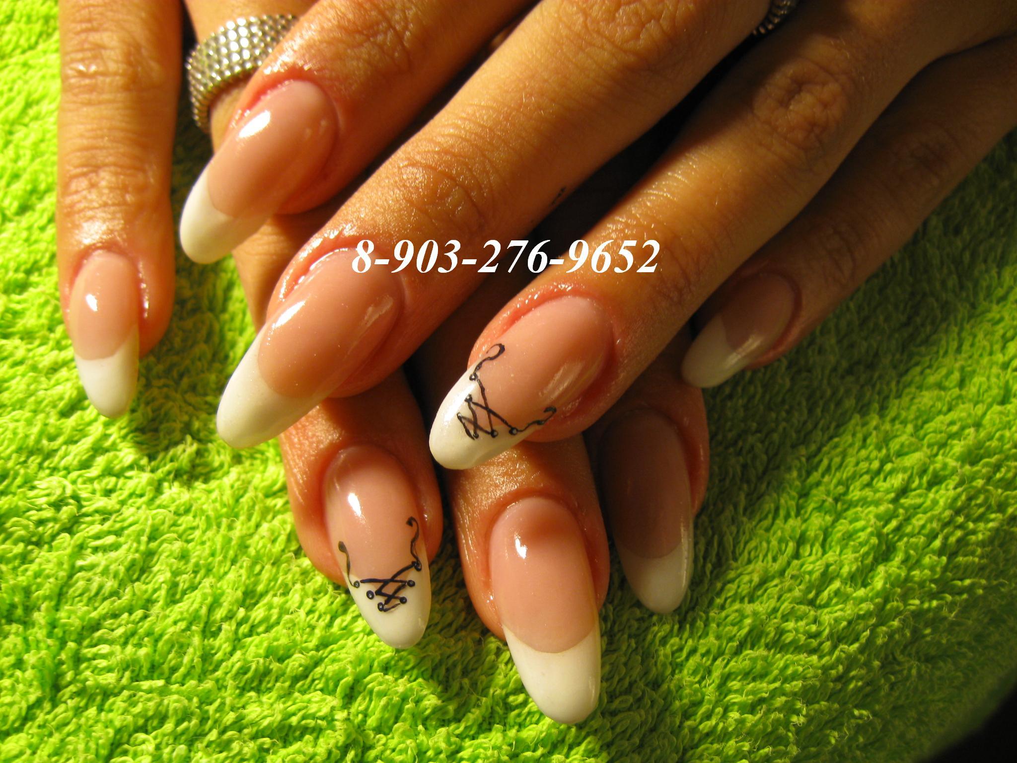 Фото нарощенных ногтей на широких ногтях